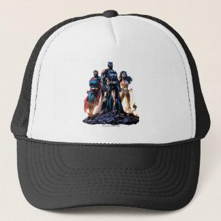 Gorra De Camionero Superhombre, Batman, y trinidad de la Mujer