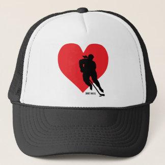 Gorra De Camionero Tapa del casquillo del hockey del corazón del amor