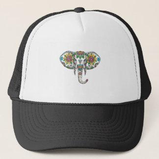 Gorra De Camionero Tatuaje principal de la mandala del elefante