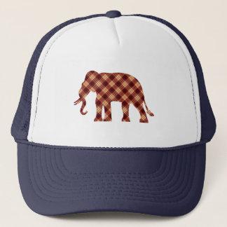 Gorra De Camionero Tela escocesa del elefante