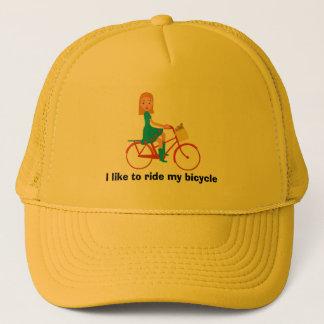 Gorra De Camionero Tengo gusto de montar mi bici