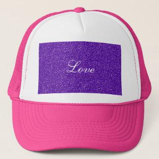 Gorra De Camionero Textura púrpura elegante de la mirada del brillo