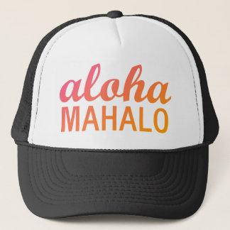 Gorra De Camionero Tipografía anaranjada magenta de Mahalo de la