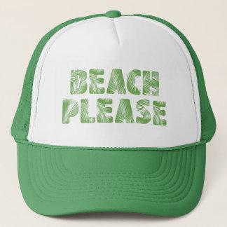 Gorra De Camionero ¡Tipografía divertida de la palmera - playa, por
