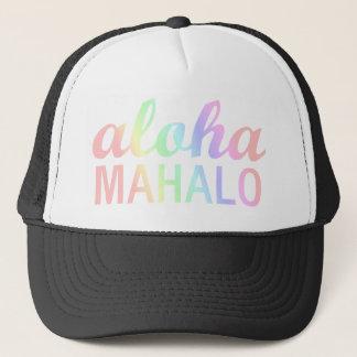 Gorra De Camionero Tipografía en colores pastel de Mahalo de la