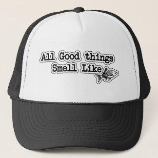 Gorra De Camionero Todas las buenas cosas huelen como la pesca