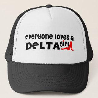 Gorra De Camionero Todos ama a un chica del delta