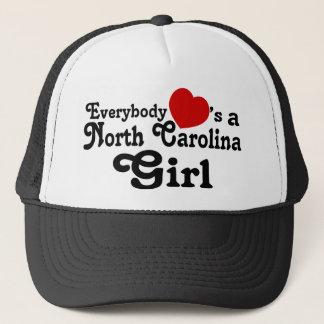 Gorra De Camionero Todos corazones un chica de Carolina del Norte