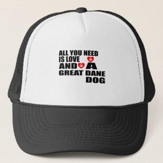 Gorra De Camionero Todos usted necesita diseños de los perros de