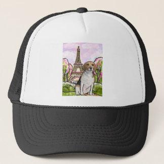 Gorra De Camionero torre Eiffel París del beagle