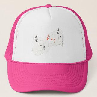 Gorra De Camionero Tres as ondulados, rosados