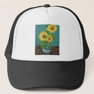 Gorra De Camionero Tres girasoles en un florero, Van Gogh
