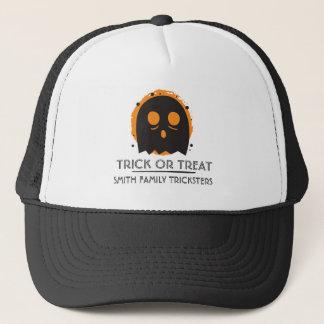 Gorra De Camionero Truco o invitación fantasmagórico del fantasma.