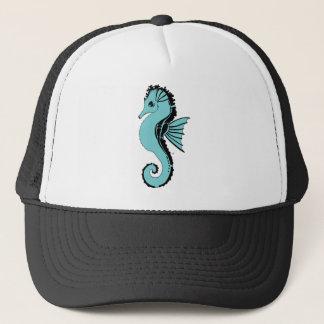 Gorra De Camionero turquesa del seahorse