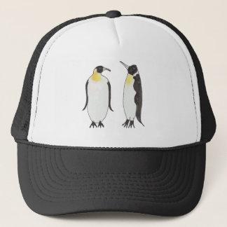 Gorra De Camionero Un dibujo de la tinta de los pares del pingüino