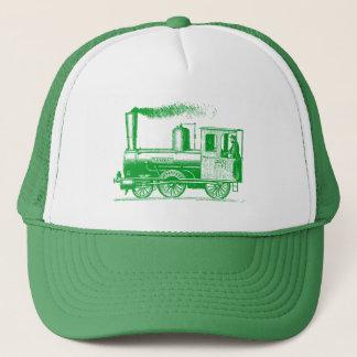 Gorra De Camionero Un hombre y el suyo tren - verde de hierba