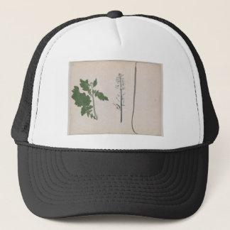 Gorra De Camionero Una planta de rábano, una semilla, y una flor
