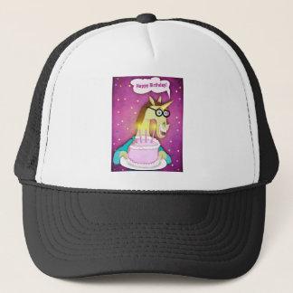 Gorra De Camionero Unicornio de la torta de cumpleaños