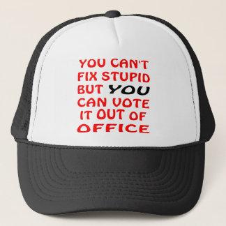 Gorra De Camionero Usted no puede fijar estúpido usted puede votarlo