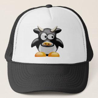 Gorra De Camionero Vaca del pingüino con los cuernos