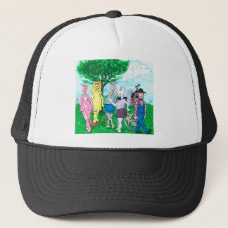 Gorra De Camionero Vacas lecheras que llevan la ropa de calle