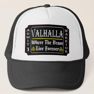 Gorra De Camionero Valhalla admite a 1 guerrero donde el valiente