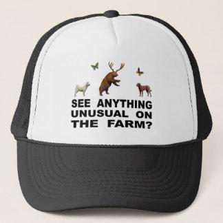 Gorra De Camionero ¿Vea cualquier cosa inusual en la granja?