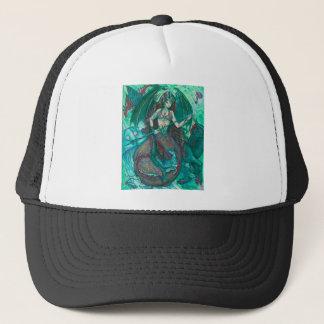Gorra De Camionero Verde del trullo del mar del océano del unicornio