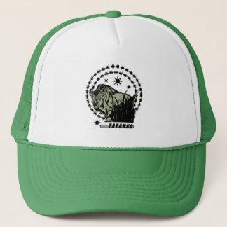 Gorra De Camionero Verde Sun-Americano del búfalo/del bisonte de