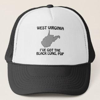Gorra De Camionero Virginia Occidental - tengo el pulmón negro,