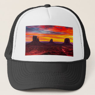 Gorra De Camionero Vista escénica de la puesta del sol sobre el mar