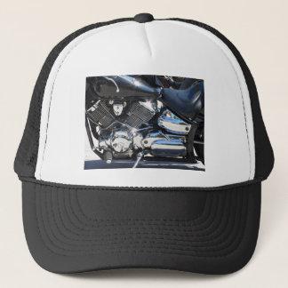 Gorra De Camionero Vista lateral cromada motocicleta del detalle del
