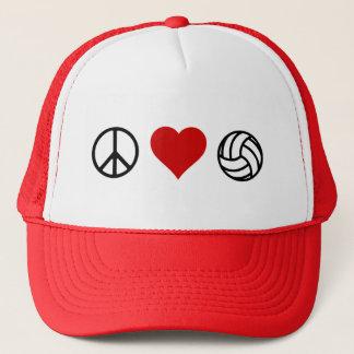 Gorra De Camionero Voleibol del amor de la paz