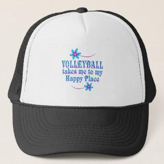 Gorra De Camionero Voleibol mi lugar feliz