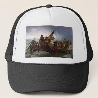 Gorra De Camionero Washington que cruza arte del Delaware - los