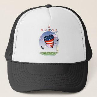 Gorra De Camionero Wisconsin ruidoso y orgulloso