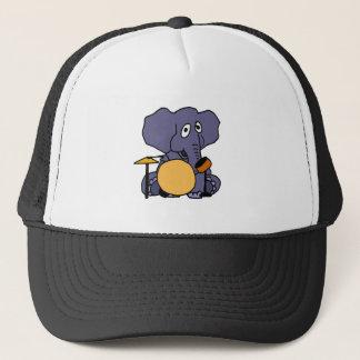 Gorra De Camionero XX elefante que juega los tambores