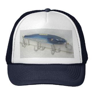 Gorra de destello azul del señuelo del vintage de