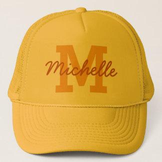 Gorra de encargo del monograma y del nombre