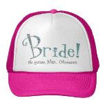Gorra de encargo lindo del camionero de la novia
