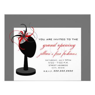 Gorra de Fascinator - gran inauguración de la tien Invitación