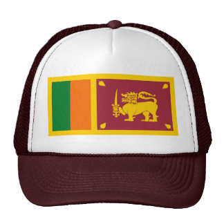 Gorra de la bandera de Sri Lanka