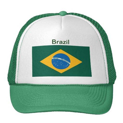Gorra de la bandera del Brasil