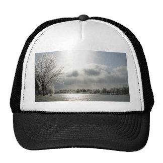 gorra de la bola con la foto del paisaje helado