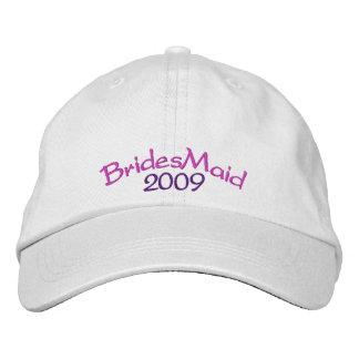 Gorra de la dama de honor gorras bordadas