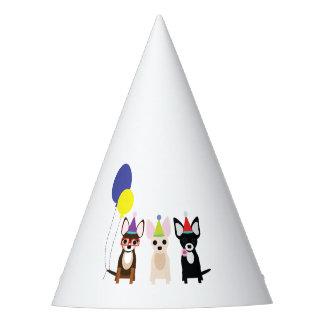 Gorra de la fiesta de cumpleaños de la chihuahua