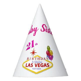 Gorra de la fiesta de cumpleaños de Las Vegas de