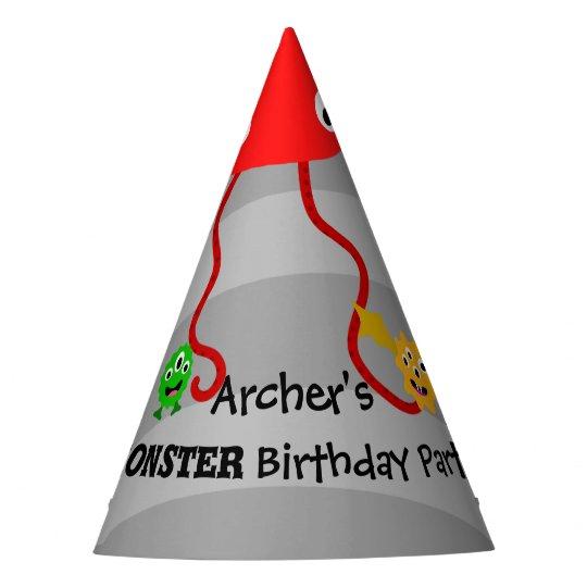 Gorra de la fiesta de cumpleaños del monstruo