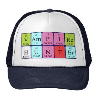 Gorra de la frase de la tabla periódica de Vampire