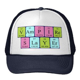 Gorra de la frase de la tabla periódica del asesin